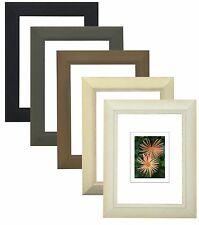 Cadre Photo en Bois Cadre avec Verre Classique Baguette 287 en Blanc, Noir, Gris