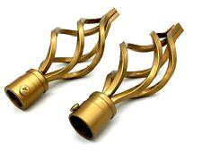 10 packs x Diffusalite 2 Pcs Metal Curtain Pole Holder Brackets Gold Coloured