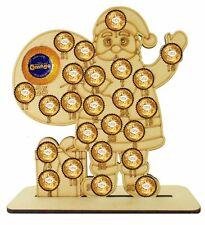 Wooden Advent Calendar Fits Ferrero Rocher & Chocolate Orange Christmas Santa :)