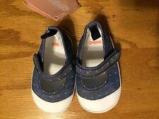 NWT Gymboree Blue Chambray Crib Denim Shoes Baby Girl 2,3,4