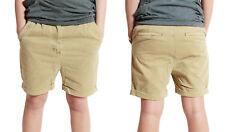 RVLT Donna Chino Shorts Pantaloni Corti Estate Bermuda Boyfriend Short Pantaloni lunghi cavallo basso antifit