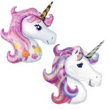con forma Fantasía unicornio Cabeza Aluminio Globo Fiesta De Cumpleaños Infantil