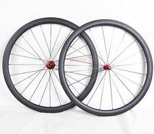 AERO Rim Carbon Wheel Front Rear Mac Clincher Road Bike 700C 38mm 25 wide Matt