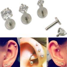Surgical Steel Zircon Ear Stud Jewelry Lip Ring Ear Cartilage Earring Piercing