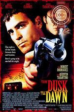 NEW FROM DUSK TILL DAWN CLOONEY FILM MOVIE ORIGINAL CINEMA PRINT PREMIUM POSTER