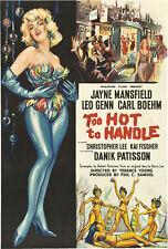 Too hot to handle Jayne Mansfield movie poster print 3
