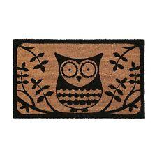 Non Slip 60 X 40cm PVC Backed Durable Owl Doormat Coir Floor Door Entrance Mat
