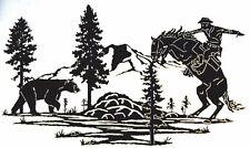 2 COWBOY HORSE BEAR DECALS VINYL GRAPHIC TRAILER RV MOTOR HOME  CAMPER 5TH WHEEL