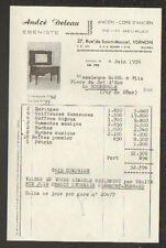 """VERNON (27) EBENISTERIE / EBENISTE de PETITS MEUBLES """"André DELEAU"""" en 1959"""