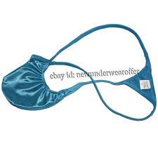 Men Posing Trunk Shiny Micro Tanga Underwear Beachwear Bulge Pouch Bikini Thong