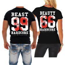T-Shirt Partnershirt Beauty & Beast Pärchen Paar Geschenk Geburtstag Hardcore