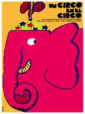 Un Circo en el circo pink elephant Decoration.Graphic Interior Art design.3304