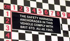 British Leyland Mini Clubman Seatbelt Compliance Decal