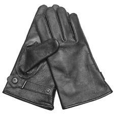 BW BUNDESWEHR LEDERHANDSCHUHE schwarz gefüttert S-3XL, Winter Leder Handschuhe