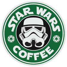 Star Wars Stormtrooper Coffee Starbucks Funny Logo Vinyl Sticker Decal