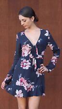 Floral Mini Dress | Long Sleeve |  Wrap S M L Cotton Candy CD8500