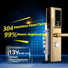 Password Lock Anti-theft Door Special Electronic Smart Card Locks Gold