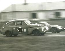Vintage 8 X 10 Auto Racing Photo 1969 Sebring Volvo 544 & Austin Healey Sprite