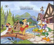 Maldives 1990 disney/Mickey Mouse/Âne/Aesop/fables/dessins animés 1 V M/S (d00251)