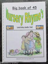 Nursery Rhymes big A4 livret, utilisation en classe, aux côtés de sujets appropriés eyfs