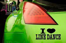 A 500 - I  love Line Dance Sport tanzen  Auto Aufkleber Autoaufkleber Sticker