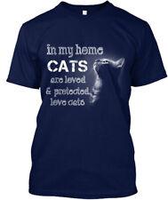001-cc-p-r-o-t-e-c-t-e-d - In My Home Cats Are Loved & Hanes Tagless Tee T-Shirt
