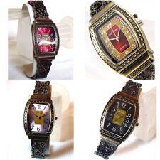 Deco Boho Vintage Estilo Victoriano Acabado Shabby Chic Reloj de señoras de filigrana Brazalete