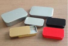 20 0.4oz Sliding Rectangular Tins Body Salve Lip Balm box 10~15ml slide top jar