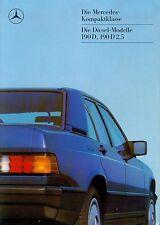 Mercedes 190 D + 2.5 Prospekt 12/86 brochure Diesel Auto PKWs Autoprospekt 1986