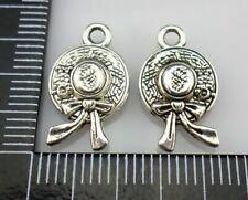 40/300pcs Tibetan Silver Princess cap Charms Pendants 10x17mm