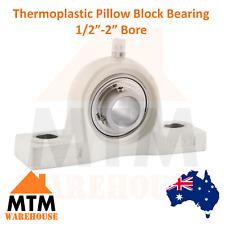 "Thermoplastic SS Pillow Block Bearing Self Aligning Foot Housing 1/2""-2"" Bore"