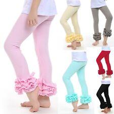Pantaloni Leggings con Balze Bambina - Child Pants with Frills LEGC102
