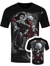 Spiral Day Of The Dead Bikers Men's Black T-shirt