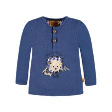 Steiff Langarmshirt Wiesn Boy Gipfelbär blau und weiß