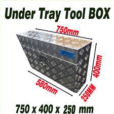 L/R Under Tray Body Toolbox Aluminium Ute Truck Trailer Undertray Tool Box 75 25