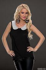 donna party da discoteca elegante maglia camicia Wear UK taglia 8-10