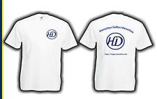 Happy Donation T-Shirt weiss - Menschen helfen Menschen farbiger Druck S bis XXL