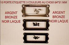 LOT DE 10 PORTE ETIQUETTE  TIROIR CLASSEUR MEUBLE DE METIER 3 COULEURS AUX CHOIX