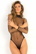Rene Rofe High Demand Fishnet & Lace Bodysuit Sexy Lingerie