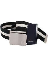 Fred Perry cinturón striped webbing Belt bt2431 486 negro/porcelain #7257