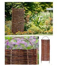 Weidenzaun SPANISCHE WAND Sichtschutz Zaun Weidenzäune Gartenzaun Weidenmatte