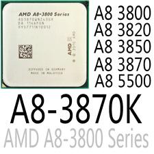 AMD Phenom A8 3800 A8 3820 A8 3850 A8 3870 A8 3870K A8 5500 CPU Processor