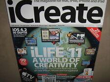 iCREATE #89 iLIFE 2011 NEW CD MAC iPAD iPHONE iPOD APPS