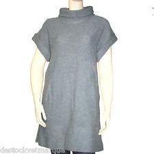 CHIPIE Robe femme laine manches courtes col roulé gris