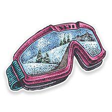 2 X 10cm Sci Snowboard Occhiali Adesivo Vinile Decalcomania Notebook l'automobile NEVE # 9316