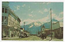 Broadway Cars Skagway Alaska #1 postcard