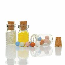 5/10/20x Mini Glasfläschchen 1ml - Glasflasche Korken - Flasche Glas Fläschchen