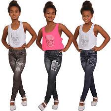 bambini Termo Leggings rosa pantaloni jeans stampa Destroyed ORSO NUOVO