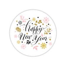 Feliz Año Nuevo | Pegatina de vinilo Laptop, ventana, coche calcomanías | Regalo De Navidad