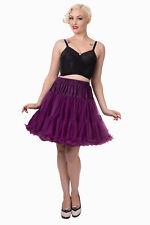 Aubergine Rockabilly 20 Inches Super Soft 1950's Light Petticoat Banned Apparel